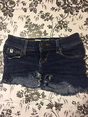 Girls 8 Shorts Abercrombie Kids Jean Denim Cut Off