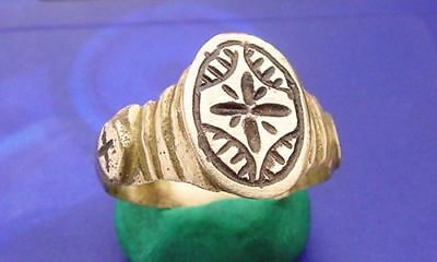 CV Roman Bronze Ring ***NEW*** Fancy Decorated WARRIOR STAR