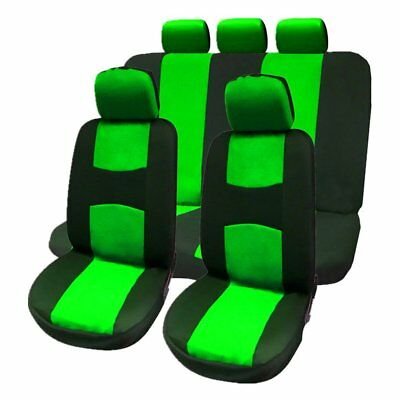 9pcs Car Seat Covers Full Auto Seat Protection Dustproof Cover Universal GREEN S