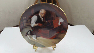 Vintage Knowles Norman Rockwell Collector Plate - Grandpa's Gift