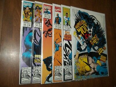 Marvel Comics Presents #117-122 All Nm+ Wolverine Vs. Venom