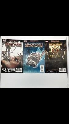 INVINCIBLE IRON MAN #10-12-13 Marvel 2009 1st App & Cameo of RESCUE-Pepper Potts