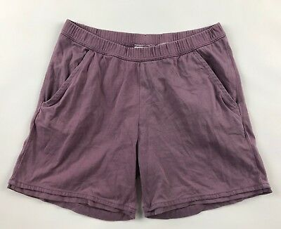 Hanna Andersson Girls Shorts 150 Lavender Pockets Elastic