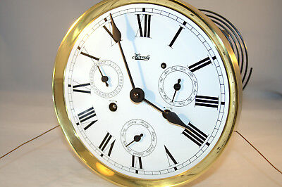Hermle 241-873, 75 CM PL,Time/Strike Clock Movement W/ Date/Day/Month Dial