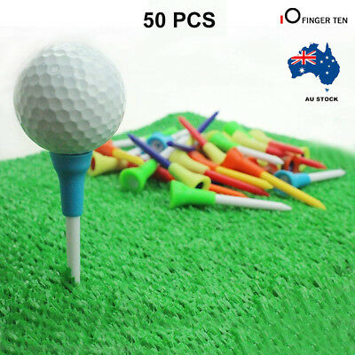 Golf Plastic Tees 50Pack With Rubber Cushion Top 70MM Large Golf Tee Multi Color