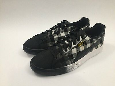 1f4175262b270c New Mens Puma Clyde Buffalo Plaid Sneakers Size 9.5 Black White Lifestyle  Shoes