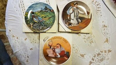 """Estate Find – 3 Norman Rockwell Collectors Plate Knowles 8.5"""" Plates"""