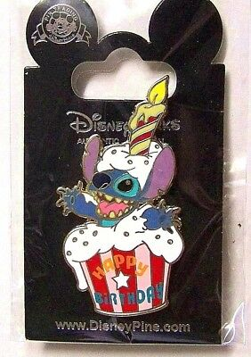 Disney Trading Pin Stitch Happy Birthday Cupcake Candle Disneyland Paris 2008