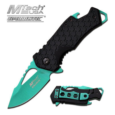 "5.75"" MTECH USA MIRROR KEYCHAIN SPRING ASSISTED FOLDING POCKET KNIFE Blade Open"