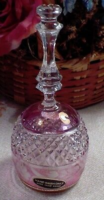 Beautiful Cut To Clear Pink Crystal Bell Diamond And Flower