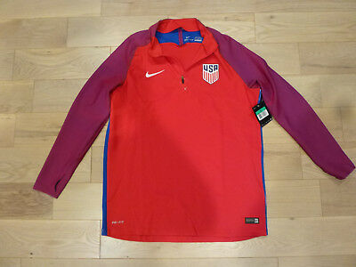 fb85d8ad952 NWT Nike 2016 2017 USA Authentic Player Edition Red Training Pullover  Jacket XL