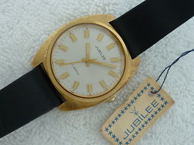 NEW OLD STOCK JUBILEE by Longines Manual wind Steel watch with box tags & papers