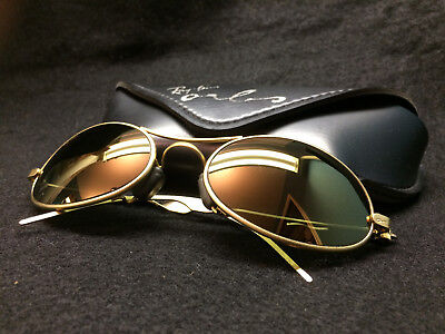 GOLD - Vintage Ray Ban B&L USA ORBS Sunglasses Rayban Oval Wrap - With Case