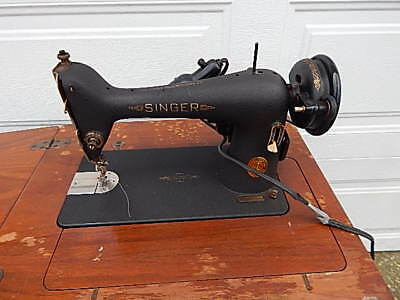 1940'S Af Singer Cabinet Electric Sewing Machine Works For Restore Local Pick Up