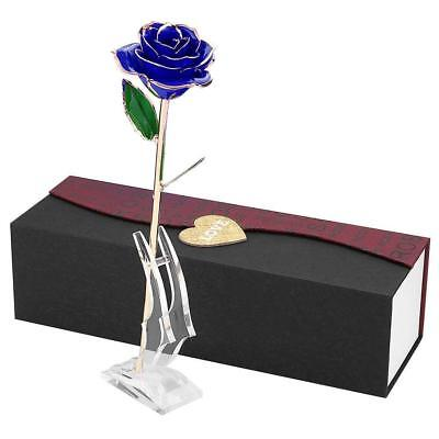 PUTIA Forever Rose, 24K Dipped Real Rose Lasted with Stand, Best Gift for Valent