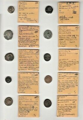 Lot of 10 Ancient Roman Imperial Coins Identified & Typed NO RESERVE Group D