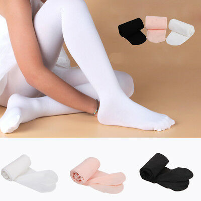 UK 100 Denier Kids Child Girls Ballet Tap Modern Dance Tights Dancewear 3-14Ages