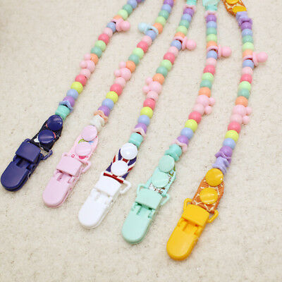 1Pc Baby Infant Feeding Pacifier Clip Dummy Bead Chain Clip Holder Nipple Strap
