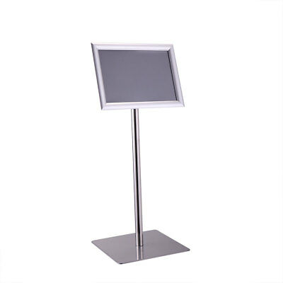 Adjustable A4 Information Display Pedestal Sign Floor Holder Stand Poster Silver