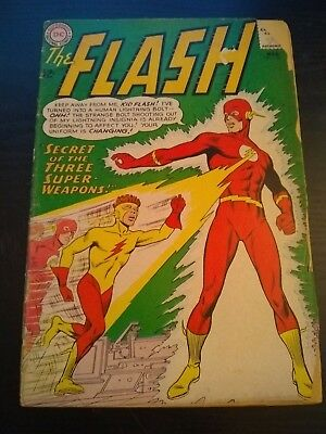 The Flash #135-(March 1963, DC)-SILVER AGE CLASSIC!-1ST KID FLASH YELLOW COSTUME