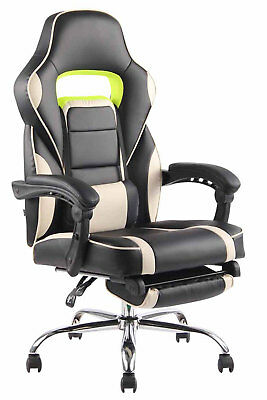 Armchair Gaming Reclinable FUEL leatherette – Chair Racing with Footrest