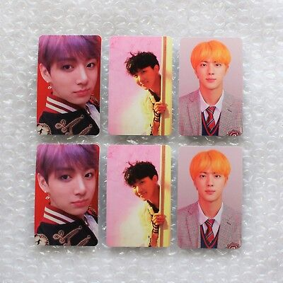 BTS Official Love Yourself Answer S, E & L ver. JUNGKOOK JIN JHOPE Photocard