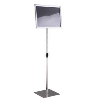 Adjustable A3 Information Display Pedestal Sign Floor Holder Stand Poster Silver