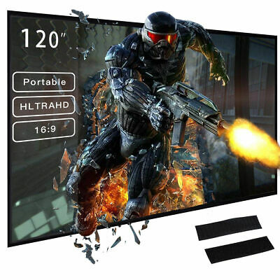 120 Inch 16:9 HD Portable Projector Screen Foldable HD Movie Screen Outdoor