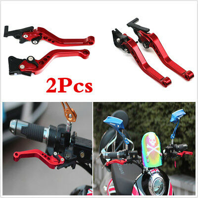 2pcs Motorcycle Universal Hydraulic Disc Brake Master Cylinder Clutch Lever L R