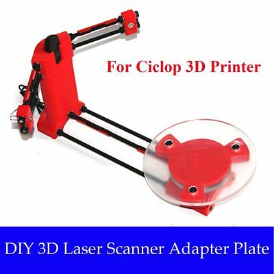 3D Scanner DIY Kit Open Source Object Scaning For Ciclop Printer Scan Red Lot 1S