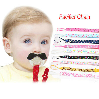 Boy Girl Gifts Lanyard Soother Chain Teether Strap Nipple Holder Pacifier Clips