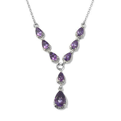 dbf139f00cd3 Women s 925 Sterling Silver Platinum Plated Zircon Necklace Gift 18