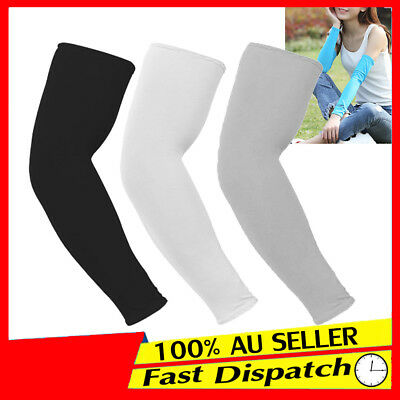 Cooling Arm Stretch Sleeves Sun UV Protection Covers Golf Cycling Sport