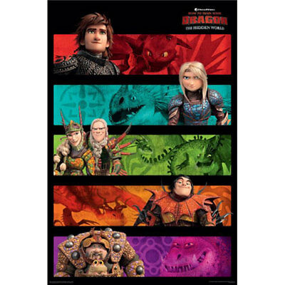 How To Train Your Dragon 3 - Panels POSTER 61x91cm BRAND NEW
