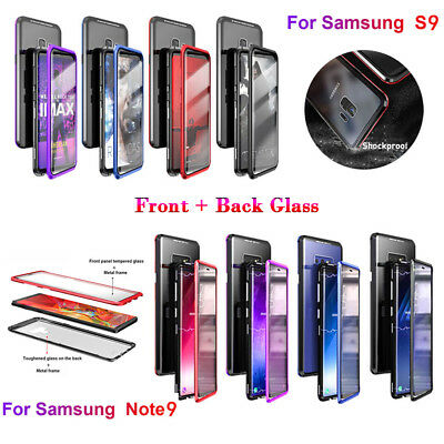 360 Full Body Front+Back Glass Magnetic Case Cover for Samsung Galaxy Note9 S9