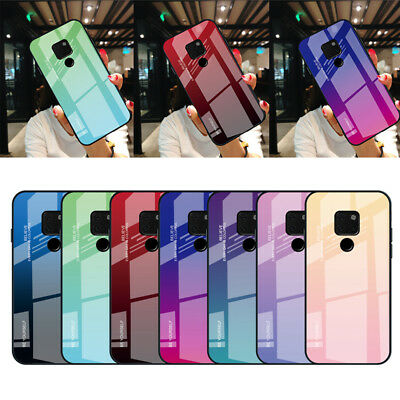 For Huawei Mate 20 Pro Lite P20 10 Gradient Tempered GLASS BACK Slim Case Cover