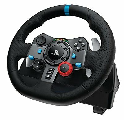 Logitech G29 Driving Force Racing Wheel and Pedals (PS4 / PS3 & PC) UK-Plug *OO*