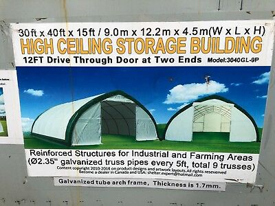 40ft x 30ft x 15ft Building. New in box.