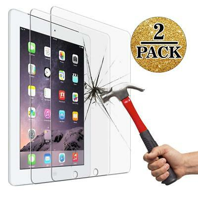 2 Pack/Set 9H Tempered-Glass Film New Screen Protect Cover For Apple iPad 2 3 4