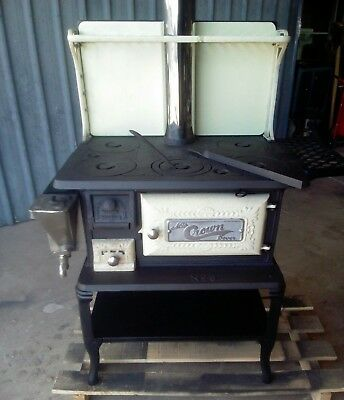 Crown Dover No 8 wood stove cast iron