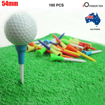 100 Golf Tees Top Quality Durable Plastic & Non-Slip Rubber 54mm FREE POSTAGE AU