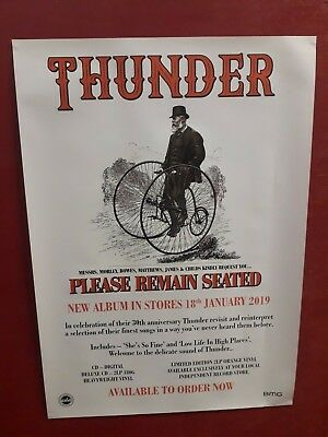 THUNDER 'PLEASE REMAIN SEATED' POSTER (Official Promo Poster) (New)