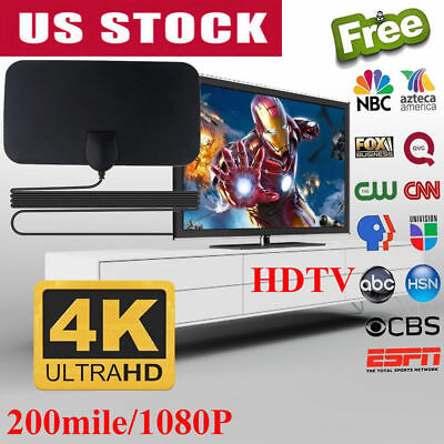 200 Mile Range Antenna TV Digital HD Skylink 4K Antena Indoor Digital HDTV 1080P