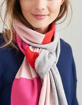 Joules Womens Flurrywell Knitted Scarf in LIGHT GREY MARL in One Size