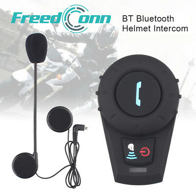 1x Freedconn FDCVB 500M Intercom Motorrad Sprechanlage Helmet Bluetooth Headset