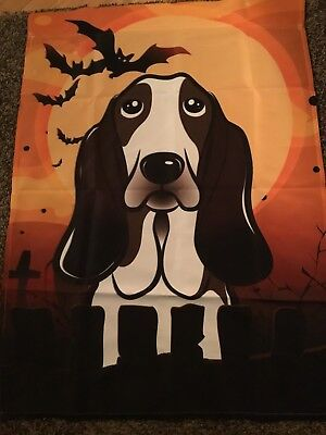 Caroline's Treasures New Halloween Basset Hound House Flag Deal