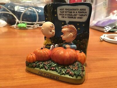 Danbury Mint Peanuts Collectors Ceramic  Figure~ Linus Charlie Halloween October