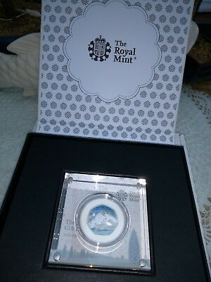 2018 Snowman 50p Silver Proof Coloured Coin RoyalMint LE of 2000
