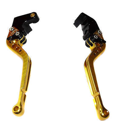 woo New Gold Aluminum Hand Clutch Brake Lever Set For YAMAHA YZF1000 R1 04-06
