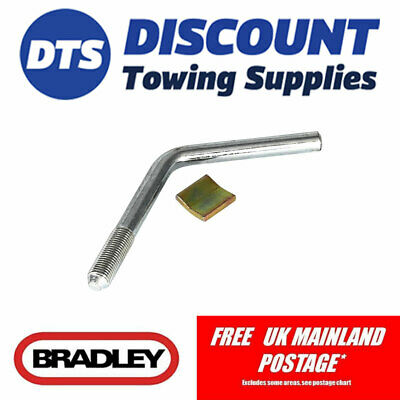Bradley Replacement Jockey Wheel Pad & Handle for HU3 Trailer Couplings KIT3354